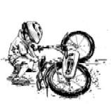 Small boy with bike